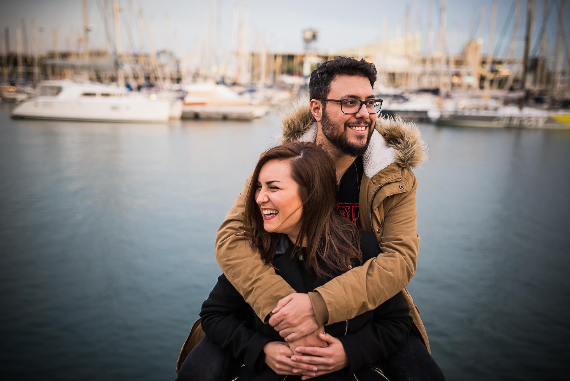 sesión de pareja en Barcelona